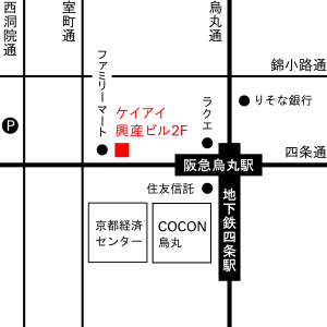Befine e-ha AVEDA/四条烏丸 地図