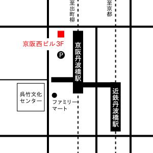 Befine/丹波橋 地図